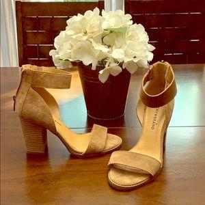 Tan Lucky Brand block heels